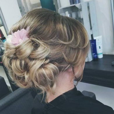 Wedding hair work that has been completed by our professionals
